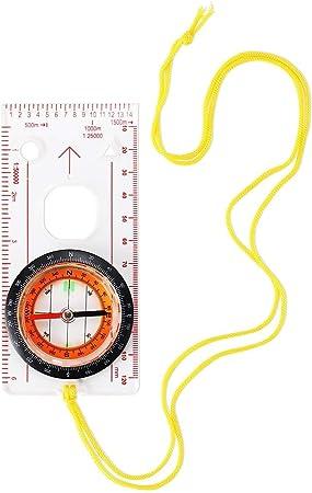 Bussola di navigazione per lettura mappe bussola Explorer multifunzionale con specchio e declinazione bussola professionale per orienteering alpinismo di sopravvivenza escursionismo