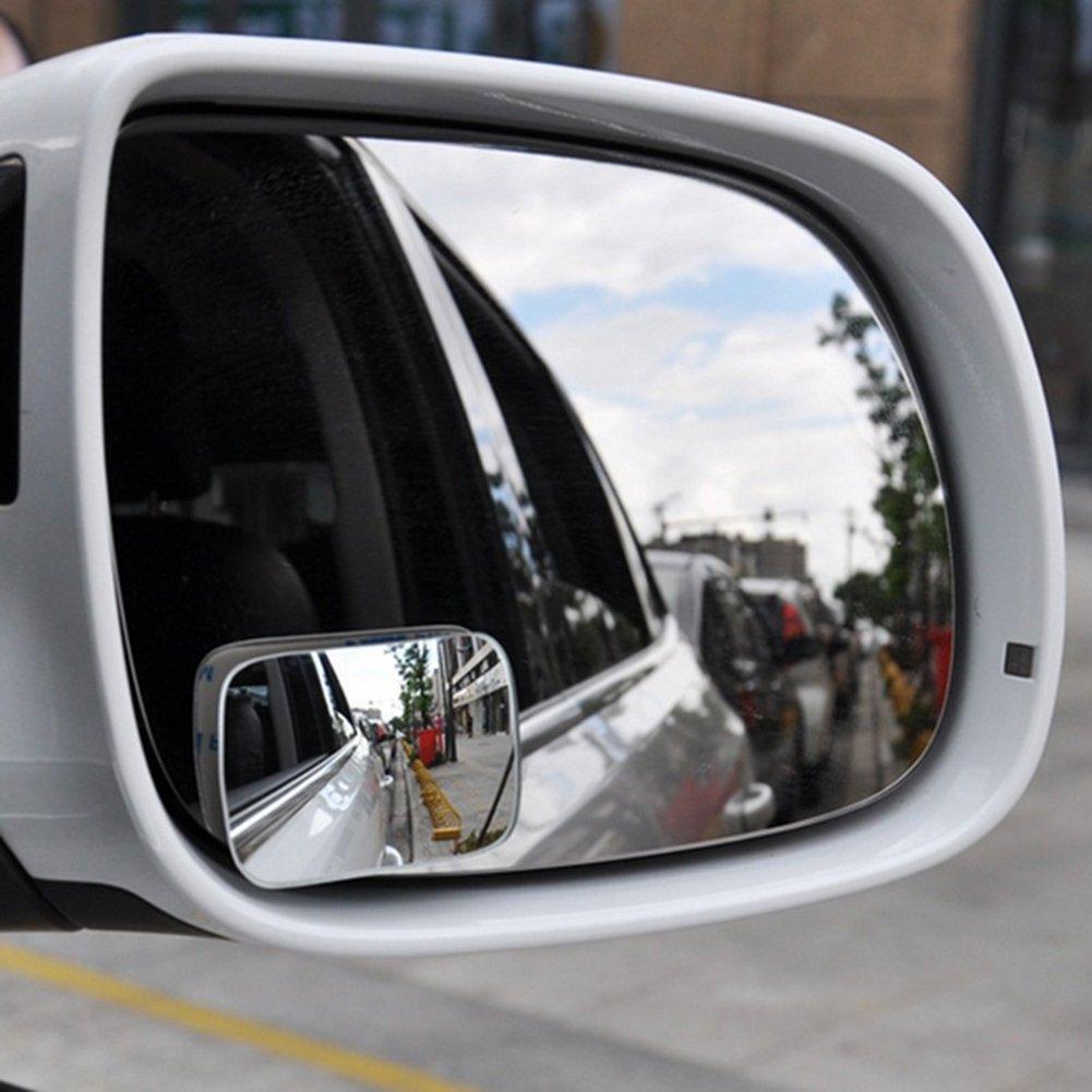 2 Pezzi dljztrade Specchietto retrovisore per parcheggio e Pioggia Convesso per Punti ciechi grandangolo