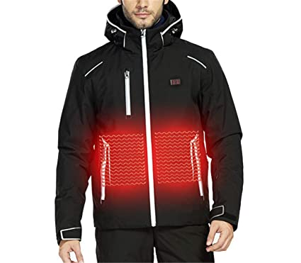 Electric Heated Cotton Gilets USB Heating Jacket Winter Down Vest Hooded Coat Suitable for Outdoor Hiking Camping