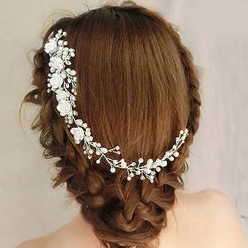 Amazon Com Wedding Hair Comb Bridal Crystal Pearl Hair Comb