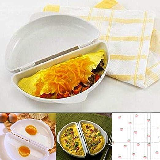 Bluelover Dos huevos Microondas Tortilla Cocina Pan para ...