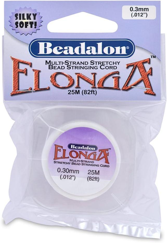 Beadalon Elonga 0.3mm White 25-Meter