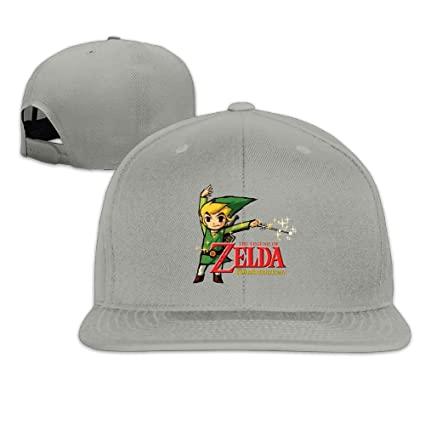 Edongquwe The Legend Of Zelda Wind Waker HD Flat Bill Snapback Adjustable Visor  Cap Ash 65b6c0f92d92