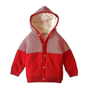 3214075308b2 Amazon.com  Warm Knit Plush Winter Coat Toddler Infant Baby Boy Girl ...