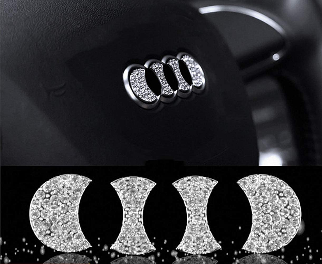 1 Piece//Set Central Control knob Cover HAILWH Fit for Audi Q5 2017-2020 Bling Accessories Multimedia Air Conditioning Central Control Knob Rhinestone Decal Cover Sticker Wreath