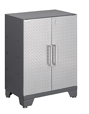 NewAge Products Performance Diamond Plate Series Two Door Base Cabinet, 30  By 24 By 16u0026quot