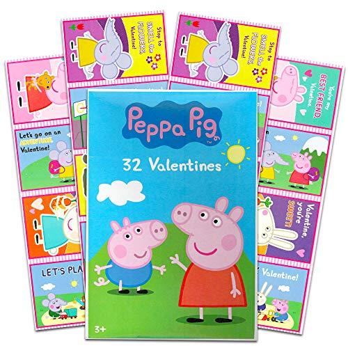 Peppa Pig–32plegar y sello Día de San Valentín tarjetas