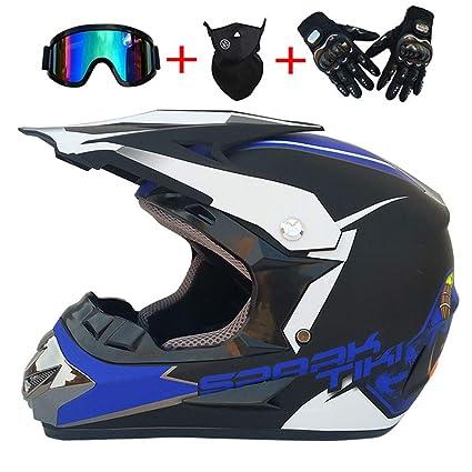 XBTIC Fuera de Carretera Casco Motocross Quad Crash Casco ECE Descenso Dirt Bike MX ATV Adulto
