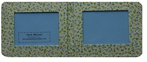 Tarjetero Estampado de Flores Azules / Funda Tarjeta ...