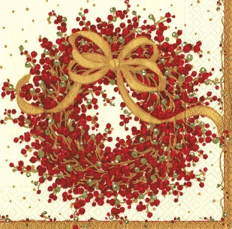 Christmas Napkins Christmas Party Christmas Dinner Party Paper Dinner Napkins Pepperberry Pk 40 by Caspari (Image #1)