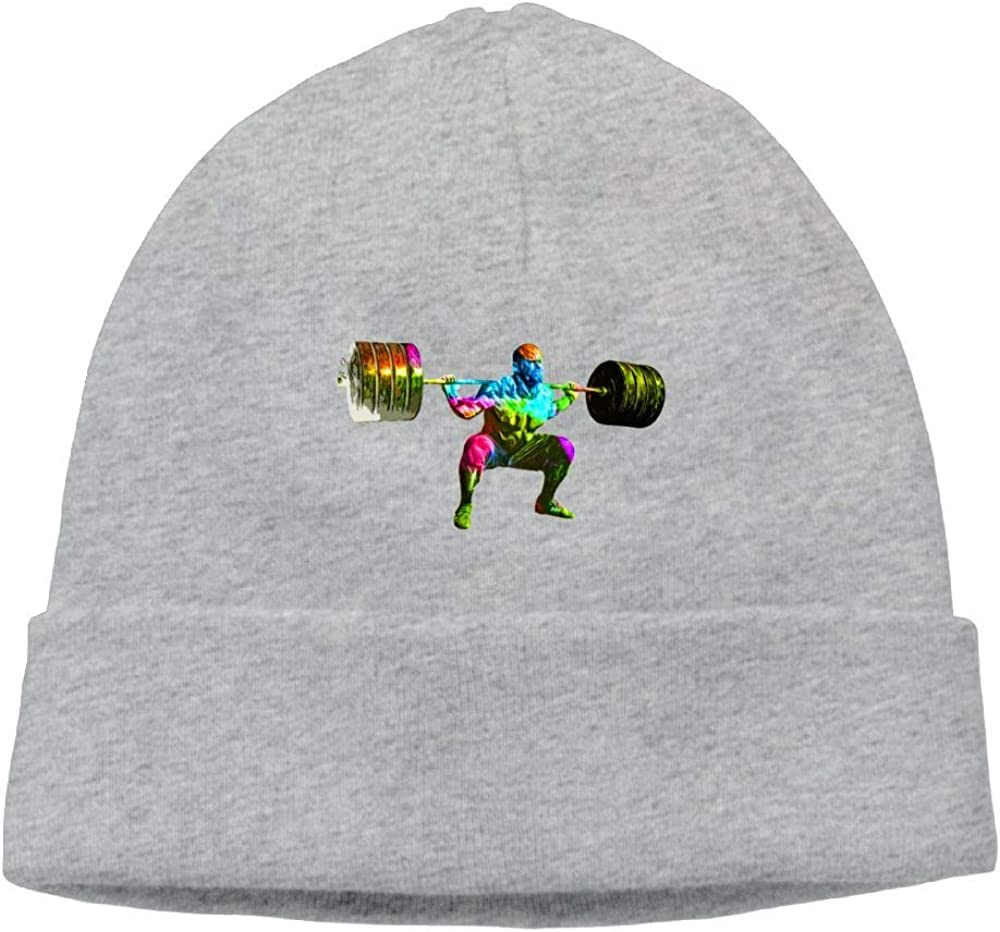 Oopp Jfhg Beanies Knit Hat Ski Caps Colorful Weightlifter Unisex