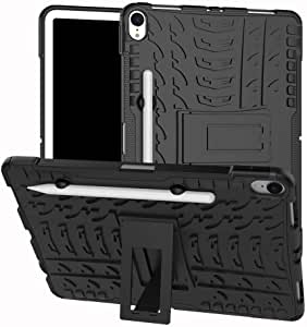 Olixar for iPad Pro 11 Inch Protective Case - Shockproof Air Cushion and Dual Layer with Kickstand - Tough Armour Cover Cases - Heavy Duty Protection - ArmourDillo - Black