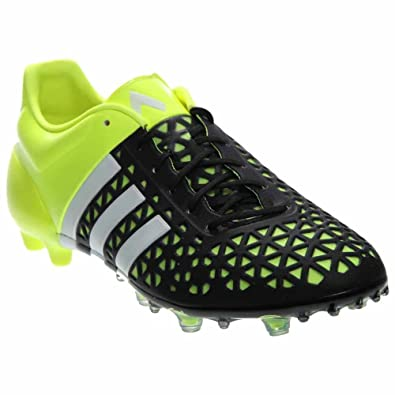 ec32f7ae3 adidas Mens Ace 15.1 FG AG Firm Ground Artificial Grass Soccer Cleats 8 US
