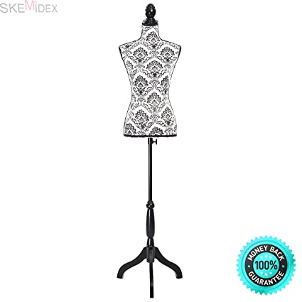 Amazon.com: SKEMIDEX---Female Mannequin Torso Dress Form Display W ...
