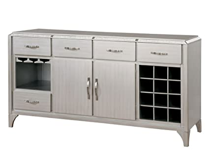 Furniture Of America CM3020SV Diocles Silver Server Dining Room Buffet