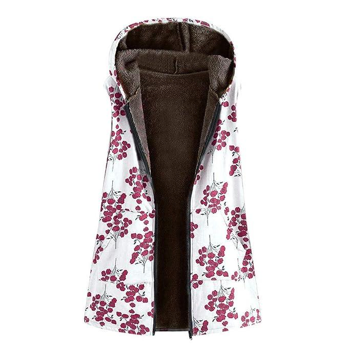 Abrigos Mujer, Hanomes Womens Winter Warm Outwear con Estampado Floral Bolsillos con Capucha Abrigos de Gran tamaño de la Vendimia: Amazon.es: Ropa y ...