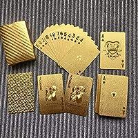 Panda🐼 Cartas de Poker, Waterproof Design Golden Playing Cards Durable Use Gold Foil Poker Playing Cards Best Gift Gambling Table Games🌵