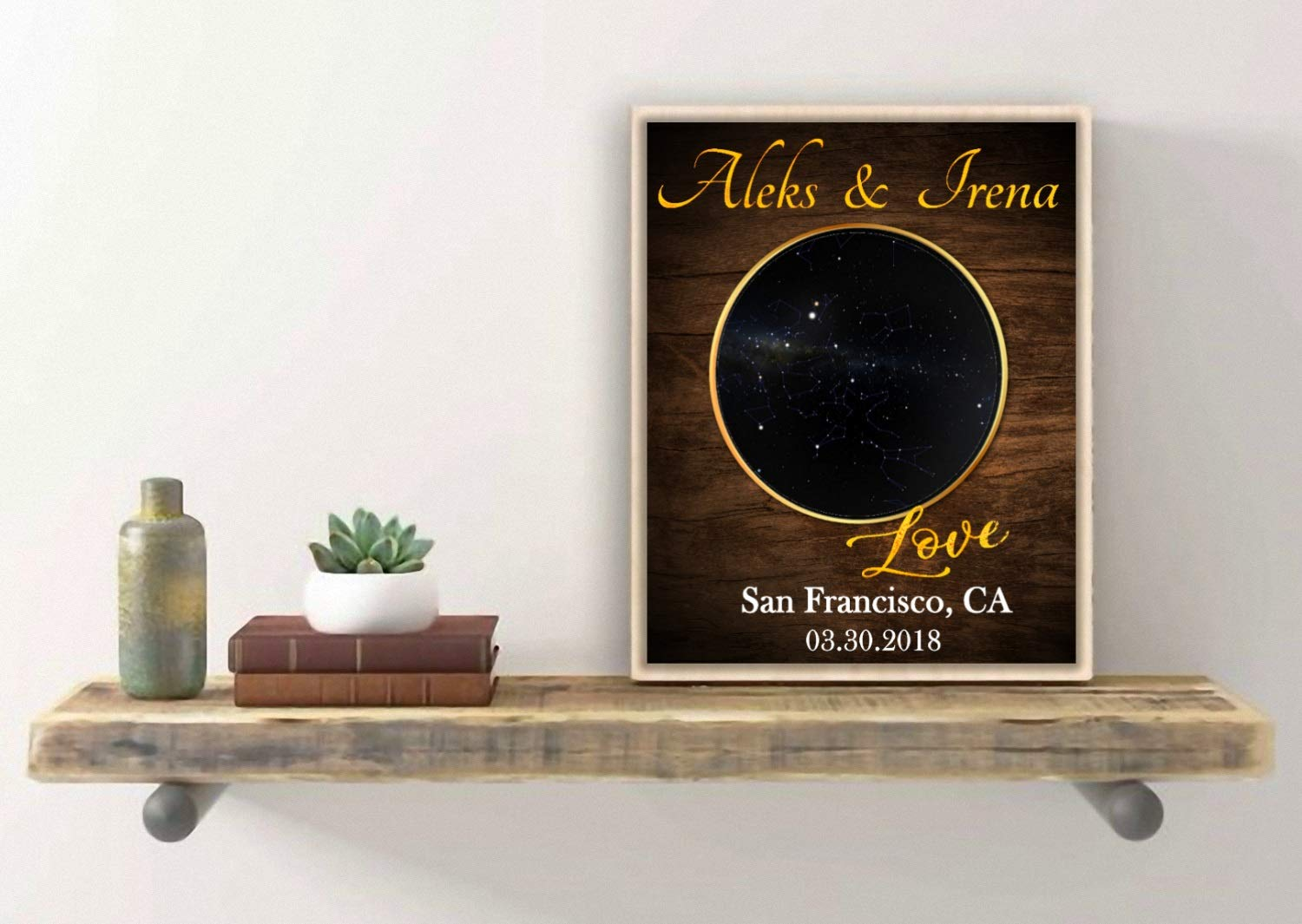 Personalized star map sign, Anniversary Gifts for Boyfriend, Unique Constellation Art, Custom Star sign, Anniversary Gifts for Women, Wedding Gift Ideas, ...