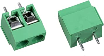 50pcs 5mm Pitch 2 pin 2 way Straight Pin PCB Screw Terminal Blocks Connector
