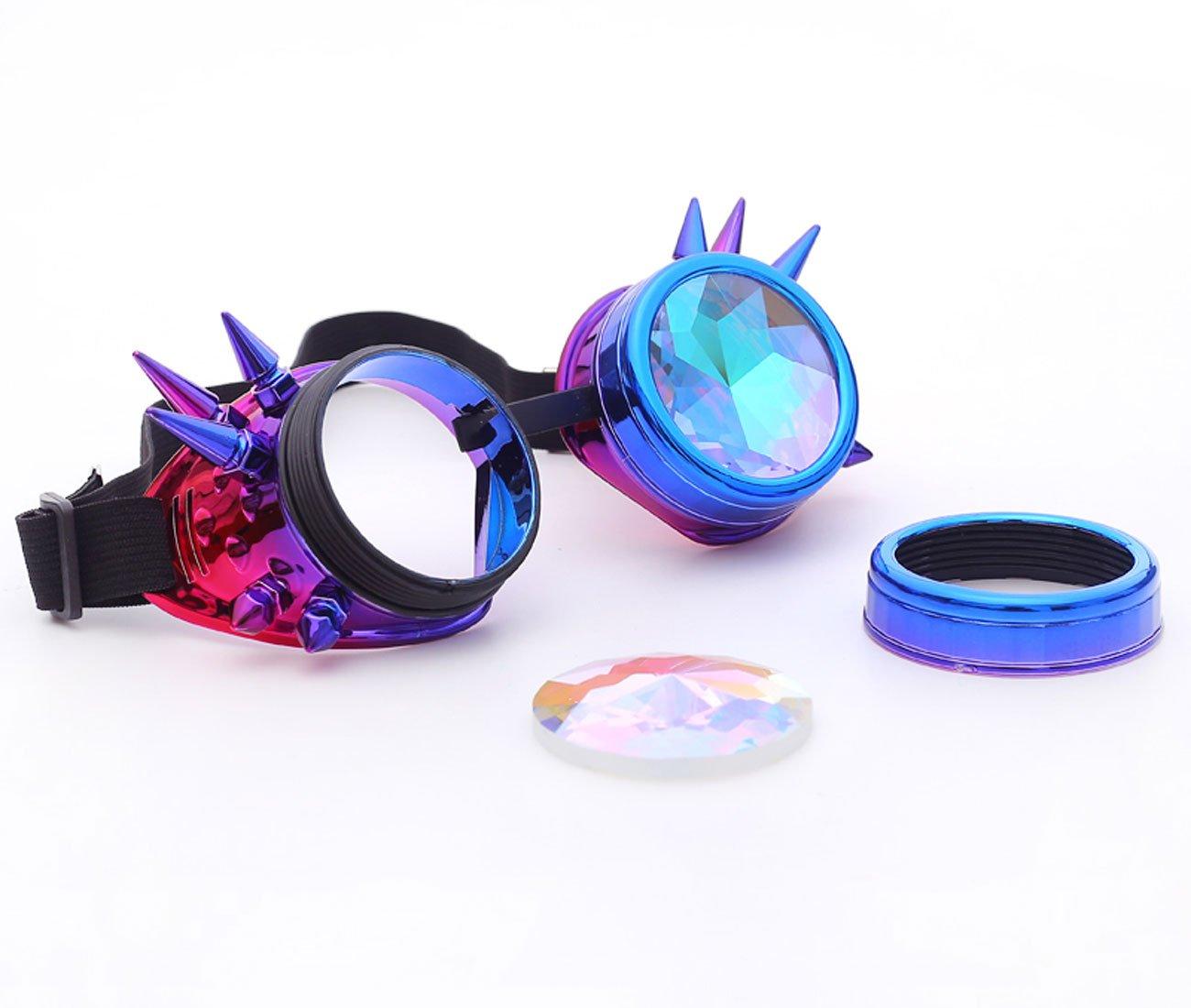 af4c227179 Gafas para fiestas Gafas de natación con Pinchos y Lentes de arcoíris  Gorros, máscaras y accesorios ...