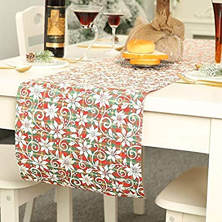 MJ-Brand Christmas Table Runner - Manteles de algodón para ...