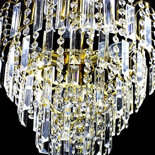 Lightinthebox European-Style Luxury 6 Lights Chandelier In Crown Shape, Crystal Home Ceiling Light Fixture, Pendant Light Chandeliers Lighting for Dining Room, Bedroom, Living Room by LightInTheBox (Image #5)