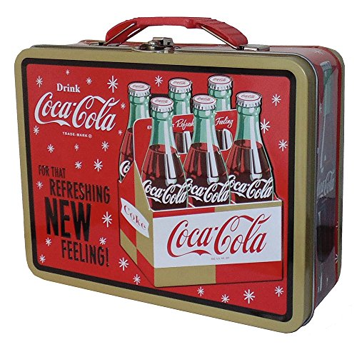 Coca Cola Galvanized Lunchbox Refreshing Feeling