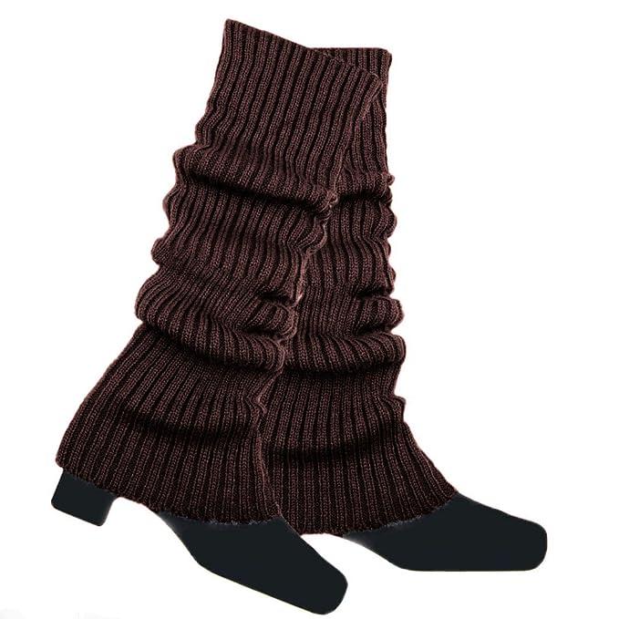 Nanxson (TM mujeres de largo cable de punto calentadores de la pierna en su elección de colores ttw0004 - Marrón -: Amazon.es: Ropa y accesorios