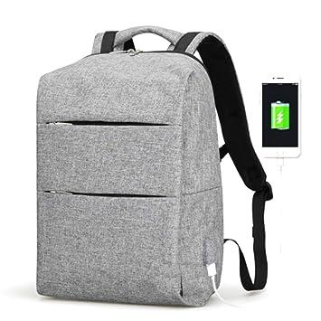 Mochila Negra para Hombre de 15 Pulgadas para Ordenador portátil de Gran Capacidad con Puerto USB: Amazon.es: Electrónica