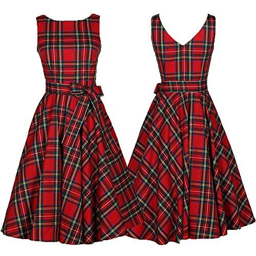 Party Hem Evening Chanyuhui Sleeveless Tops Lady Tunic Dress Red Irregular Button Women Dresses Plaid SqSPw8H