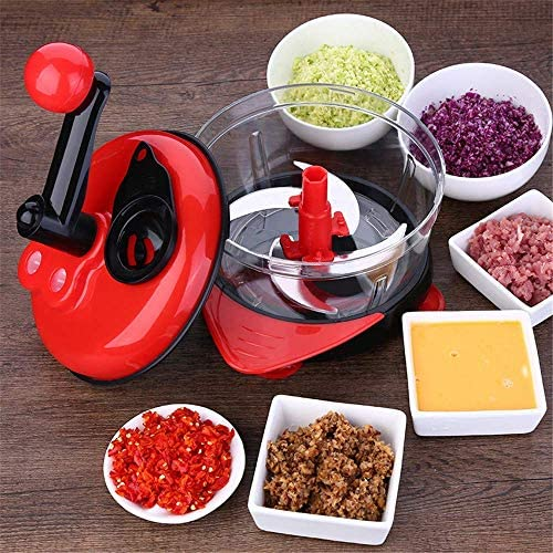 LEIXIN Tronchese 1500ml di Verdure Chopper apritori Manuale Meat Grinder di Verdure Insalata di caffè Utensili da Cucina 3 velocità Regolabile