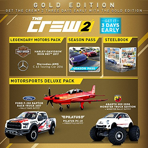 the crew 2 gold edition playstation 4. Black Bedroom Furniture Sets. Home Design Ideas