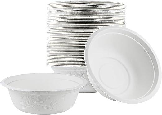 100 cuencos desechables biodegradables respetuosos con el medio ...