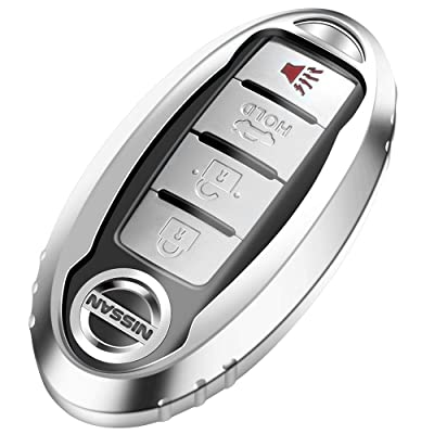 Lcyam TPU Smooth Case Key Fob Cover Silver Fits for Infiniti Nissan Altima SL FWD Maxima Sentra X Trail Patrol Quest Murano Pathfinder Serena Kicks Armada Juke Versa Accessories: Automotive