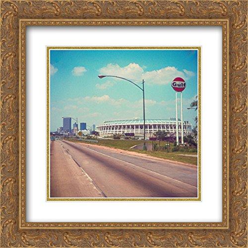 Atlanta Fulton Stadium (Atlanta?Fulton County Stadium 2X Matted 20x20 Gold Ornate Framed Art Print from The Stadium Series)