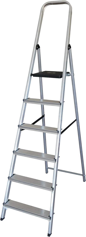 Escalera doméstica de aluminio de peldaño ancho Altipesa serie 300. Robusta y estable. EN 131 (4 Peldaños): Amazon.es: Bricolaje y herramientas