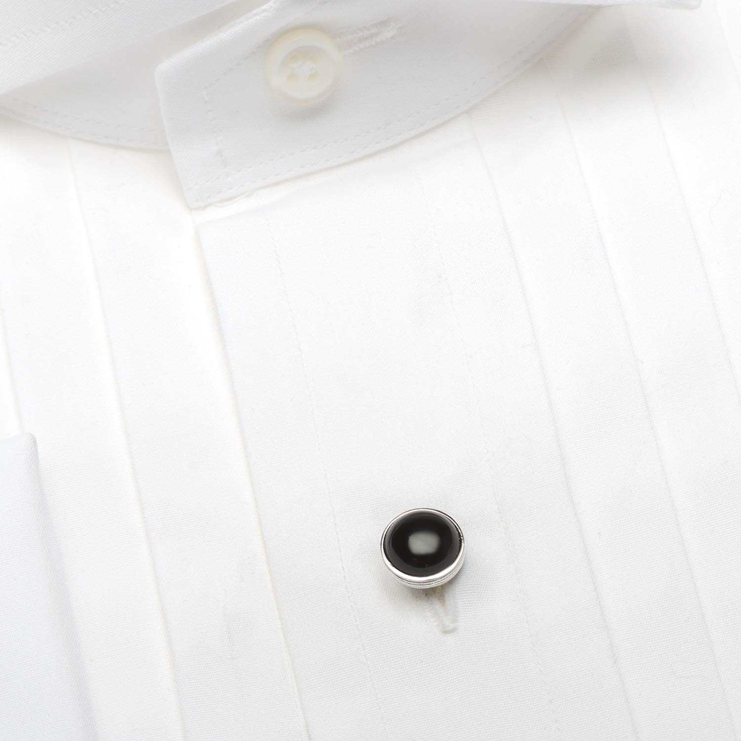 Ox and Bull Trading Co. Sterling Silver Ribbed Onyx Studs by Ox and Bull Trading Company (Image #3)