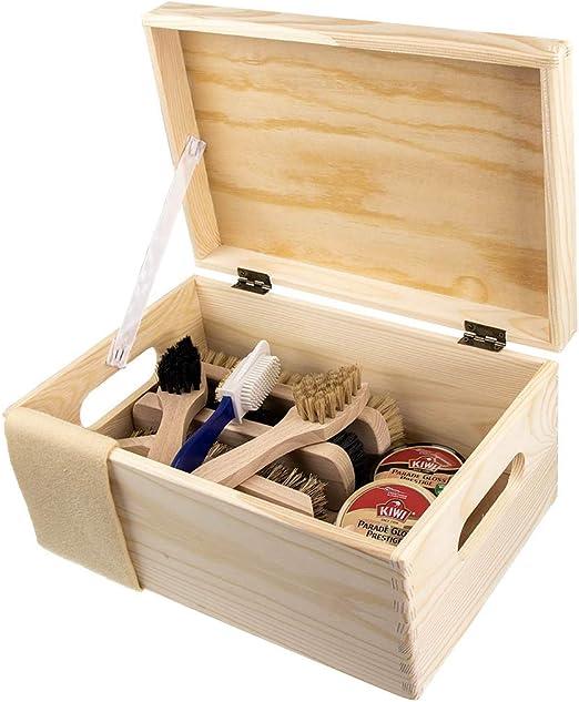Betún Verona de madera natural de pino para limpieza de caja con 9 tlg betún II comprar: Amazon.es: Hogar