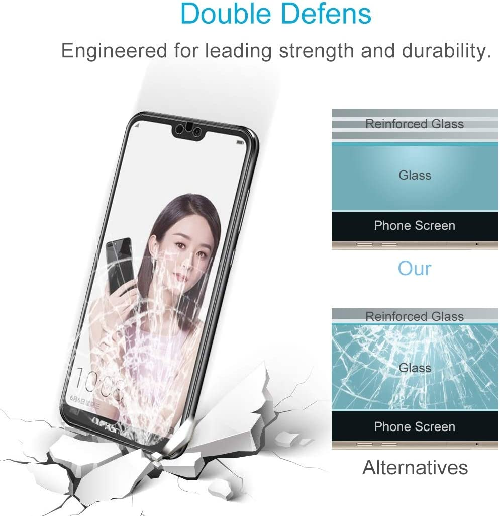 DESHENG Clear Screen Protector 100 PCS 9H 2.5D Tempered Glass Film for Oppo R15 R15 Pro Glass Film
