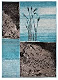 """Cheap Designer Collection Wheat Nature Design Modern Contemporary Area Rug Rugs 3 Different Color Options (Turquoise Blue, 7'10″x9'10"""")"""