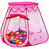 Kid Outdoor Indoor Princess Play Tent,PortableFun Playhouse Ball Tent Toddler Toys,Perfect Gift For Children(Balls Not Included)