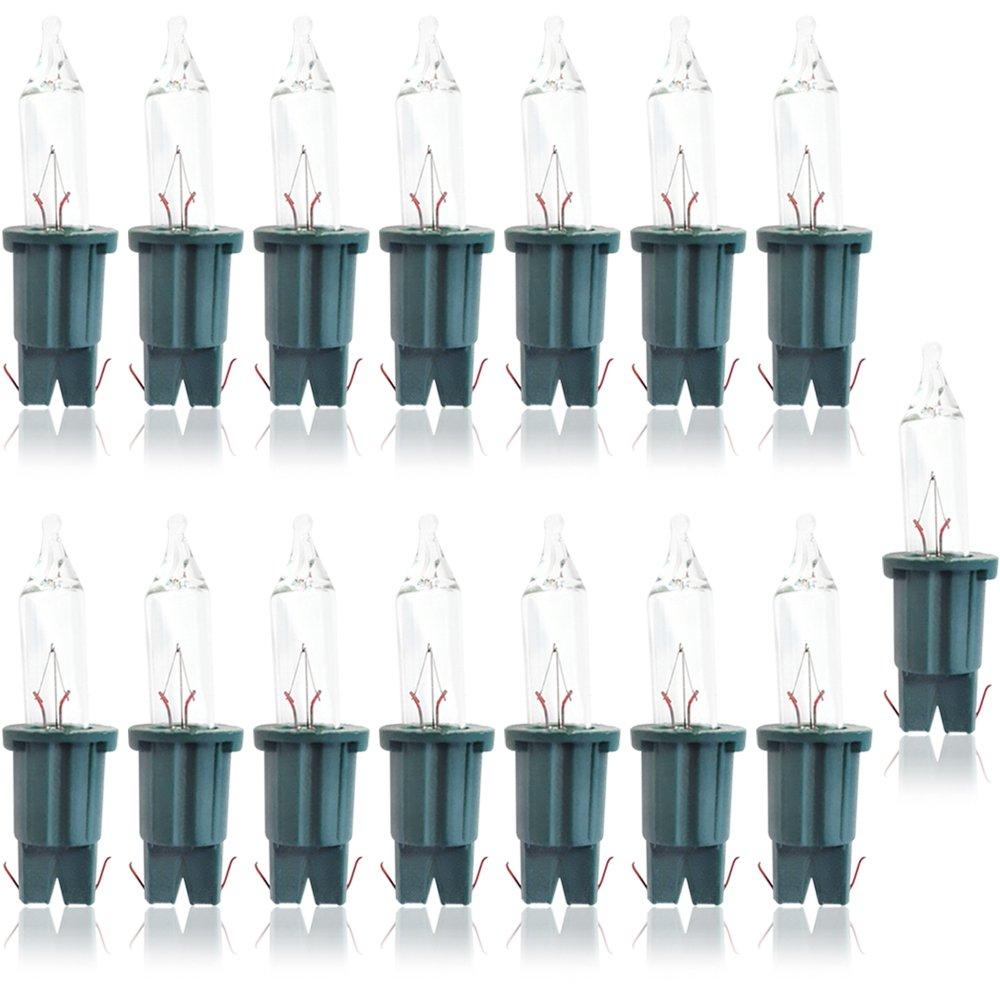 COM-FOUR® 10x Lampada di Ricambio per Fata con 10 lampade, 24V / 1,2W, con Presa Verde (010 Pezzi - 24V / 1.2W)