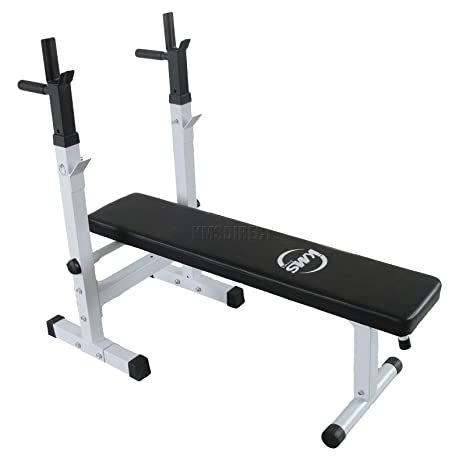 Foxhunter New Adjustable Folding Bench Press Heavy Duty Weight Bench For Chest Press Can Use Olympic Bar Home Gym Fitness Workout Equipment