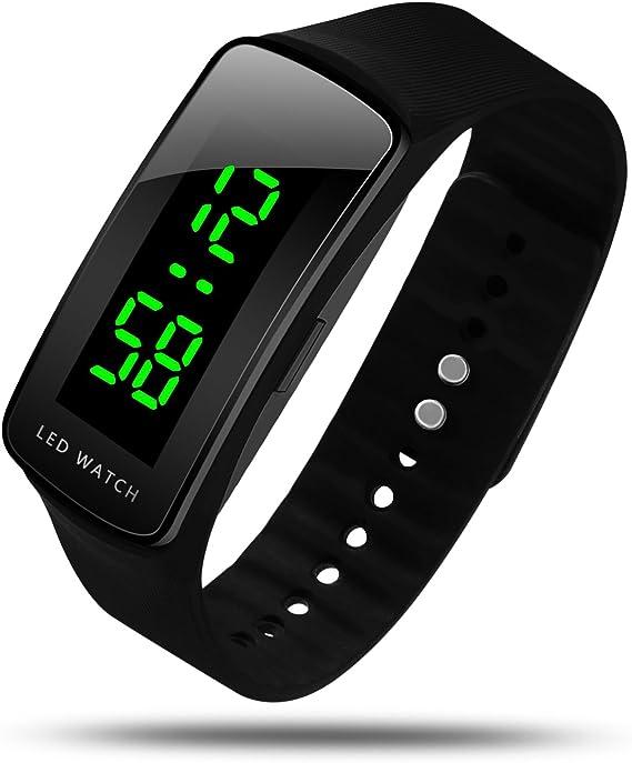 Amazon.com: HIwatch Reloj LED de Moda Deporte Resistente al ...