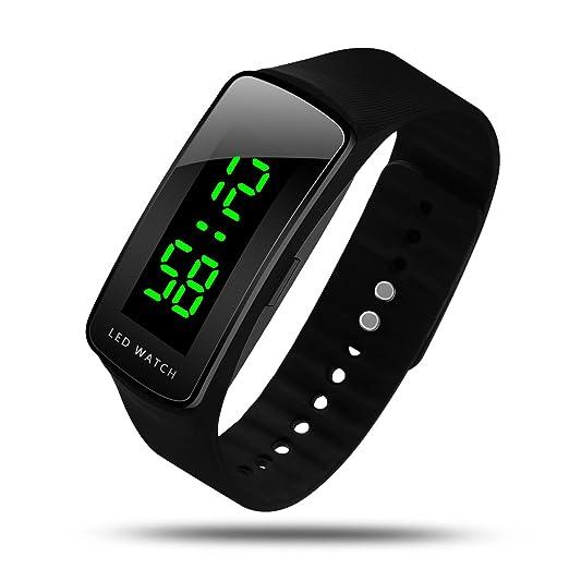 HIwatch - Reloj digital LED para adulto o niño, diseño moderno y deportivo: Amazon.es: Relojes