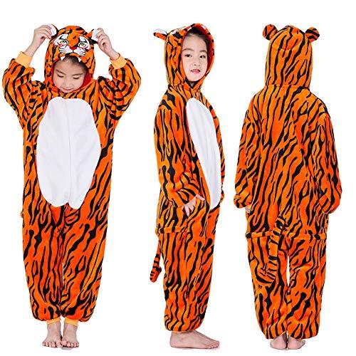 Kid Animal Pajamas Halloween Christmas Cosplay Costume Onesies Homewear Nightclothes Sleepwear Unisex (No Shoes) (XL (Height:47.3-51.2