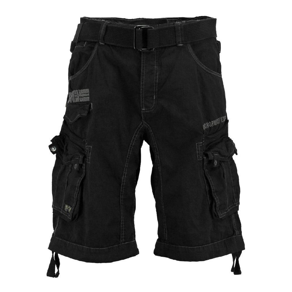Geographical Norway Herren Cargo Shorts Kurze Hose Panoramique Men Basic Schwarz Größe:S Panoramique Men Basic 063