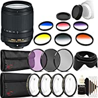 Nikon AF-S DX NIKKOR 18-140mm f/3.5-5.6G ED Vibration Reduction Zoom Lens with Auto Focus for Nikon D7100 D3200 with Accessory Kit
