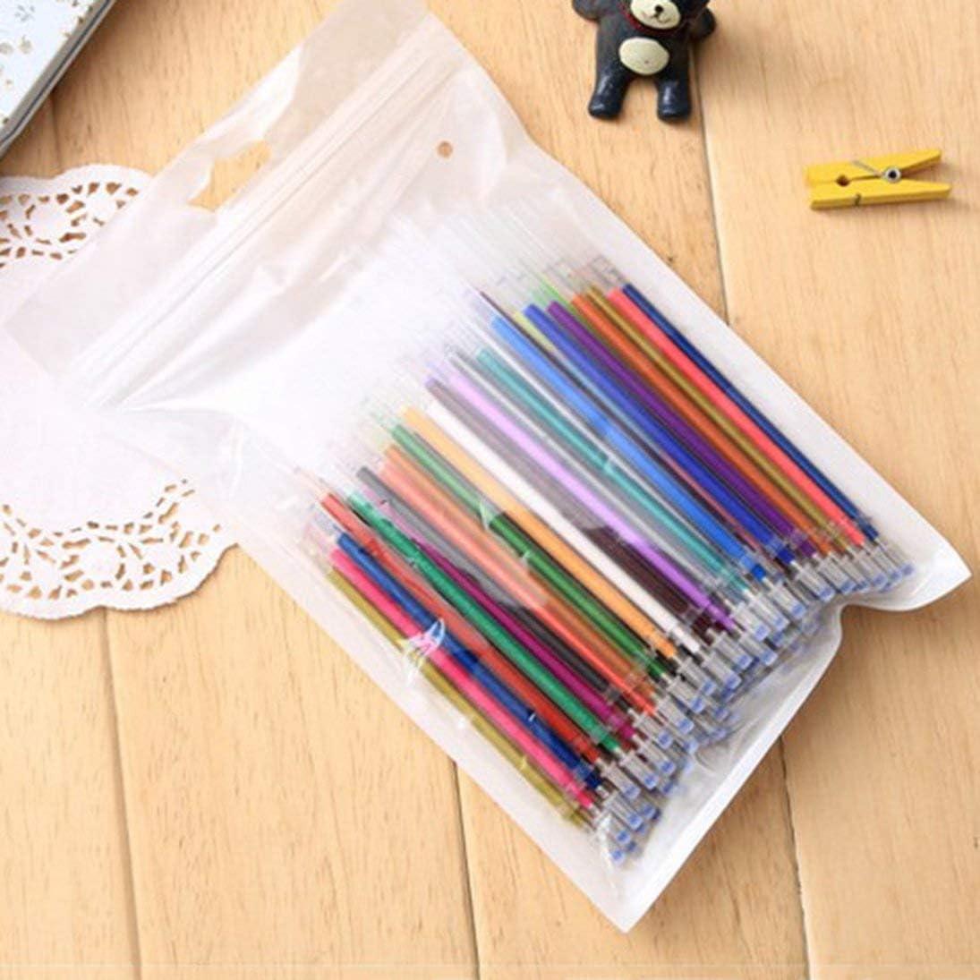 100 Farben 100 Farben//Set ungiftig Umweltfreundlich Neutrale Tinte Kugelschreiber Gel Pen Nachf/üllungen Schulb/üro Graffiti Stifte Nachf/üllung