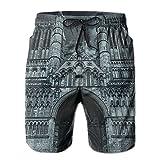 Christ Church Cathedral Mens Breathable Swim Trunks Beach Shorts Board Shorts